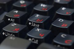 Black keyboard closeup Stock Photos