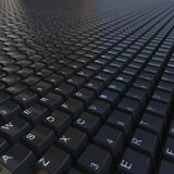 Black keyboard. 3d black keyboard. Background for site or desktop Stock Photography