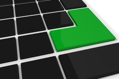 Black keyboard with green key Royalty Free Stock Photo