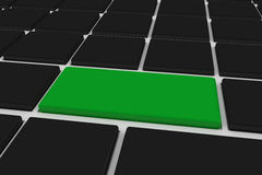 Black keyboard with green key Royalty Free Stock Photo