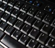 Black keyboard macro Stock Photo