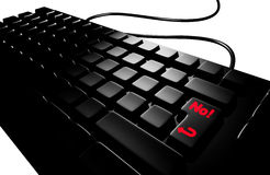 Black keyboard no Stock Photo