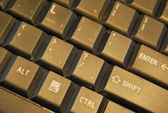 Black keyboard Stock Images