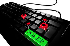 Black keyboard poker royalty free illustration