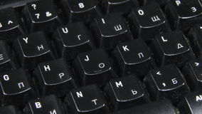 Black Keyboard Rotates stock video