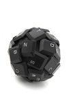 Black keyboard sphere Royalty Free Stock Images