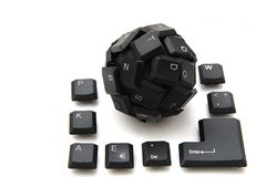 Black keyboard sphere Royalty Free Stock Photography