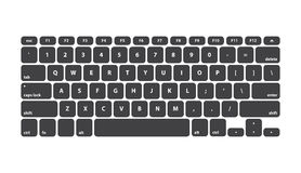 Black Keyboard Stroke QWERTY - Isolated Vector Illustration Royalty Free Stock Image