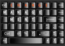 Black keyboard with text Change Management ,vector  illustration Stock Photography