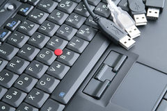 Black keyboard and usb Stock Images