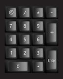 Black keyboard. Vector Royalty Free Stock Photography