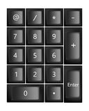 Black keyboard. Vector Royalty Free Stock Photos