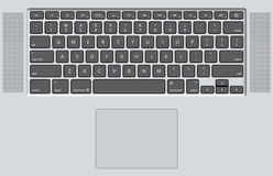 Black Keyboard of white laptop. White laptop (notebook) computer keyboard. High res image generated in 3d software Stock Images