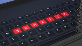 Black keyboard with word Service Stock Photos