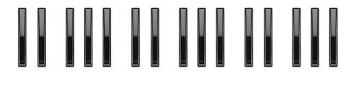 Black keys of the piano keyboard Royalty Free Stock Photo
