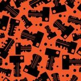 Black keys seamless pattern Stock Photos