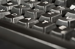 Black keys with the word date. Words date, love, flirt on a black computer keyboard Royalty Free Stock Images