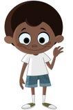 Black kid waving Stock Images