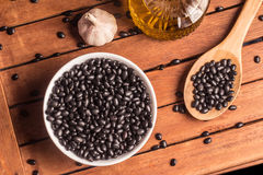 Black kidney beans ingredients Royalty Free Stock Images