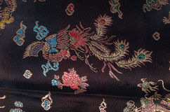 Black kimono background Royalty Free Stock Photo