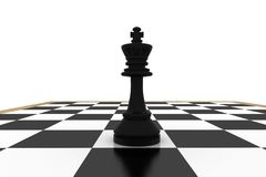 Black king on chess board Stock Photo