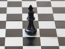 Black king of chess stock photography