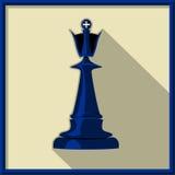 Black king. Chess. Black king on a white background Stock Photos