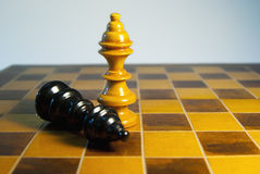 Black king down Royalty Free Stock Image