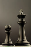 Black king and pawn of chess Stock Photography