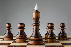 Black king and pawns Stock Images