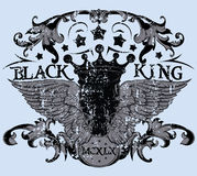 Black king Royalty Free Stock Images