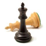 Black king won white Royalty Free Stock Images