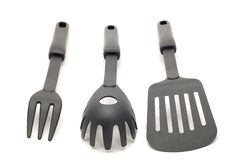 Black kitchen utensil Stock Image