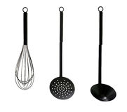 Black kitchen utensils Stock Photography