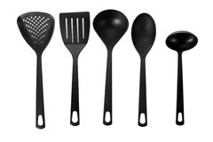 Black kitchen utensils Royalty Free Stock Photography
