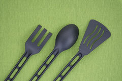 Black kitchenware Stock Images
