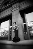 black klänningen Arkivbilder