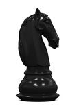 Black Knight Chess. Isolated on white background. 3D render Stock Photography