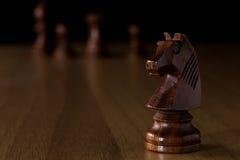 Black knight chess Stock Image