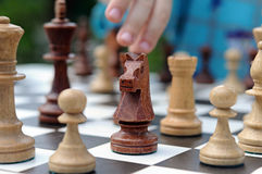Black knight chess piece Royalty Free Stock Photography