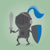 Black knight comic illustration Royalty Free Stock Photos