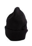 Black knitted cap Stock Photo