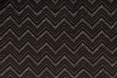 Black knitted fabric with grey pattern Stock Photography
