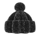 Black knitted hat Stock Images