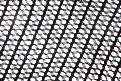 Black knitted mesh Stock Photography