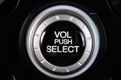 Black knob of volume Royalty Free Stock Photography