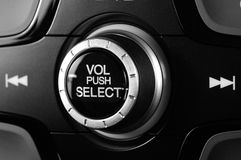 Black knob of volume Stock Image