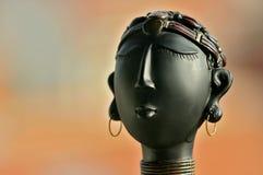 black kvinnan för stående s Arkivfoton