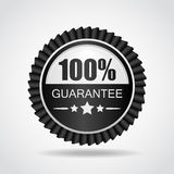 Black label. 100% Guarantee. The Black label. 100% Guarantee Royalty Free Stock Photos