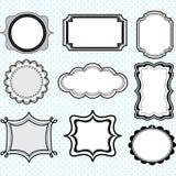 Black Label Frames,Elegant Ornate frames set Royalty Free Stock Image